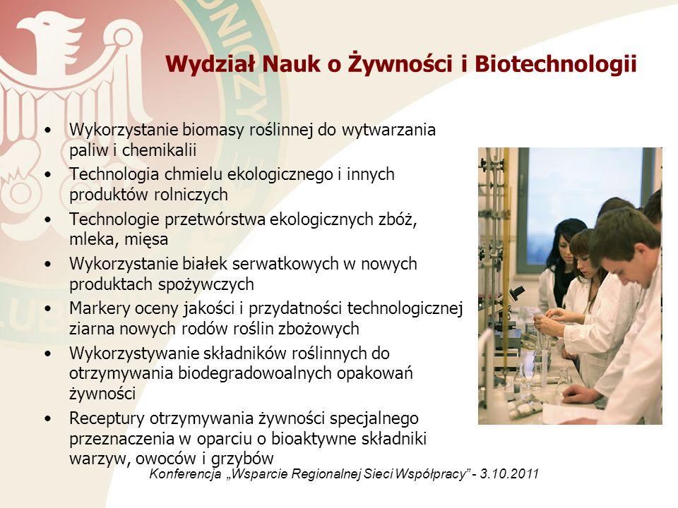 Wydział Nauk o Żywności i Biotechnologii Wykorzystanie biomasy roślinnej do wytwarzania paliw i chemikalii Technologia chmielu ekologicznego i innych