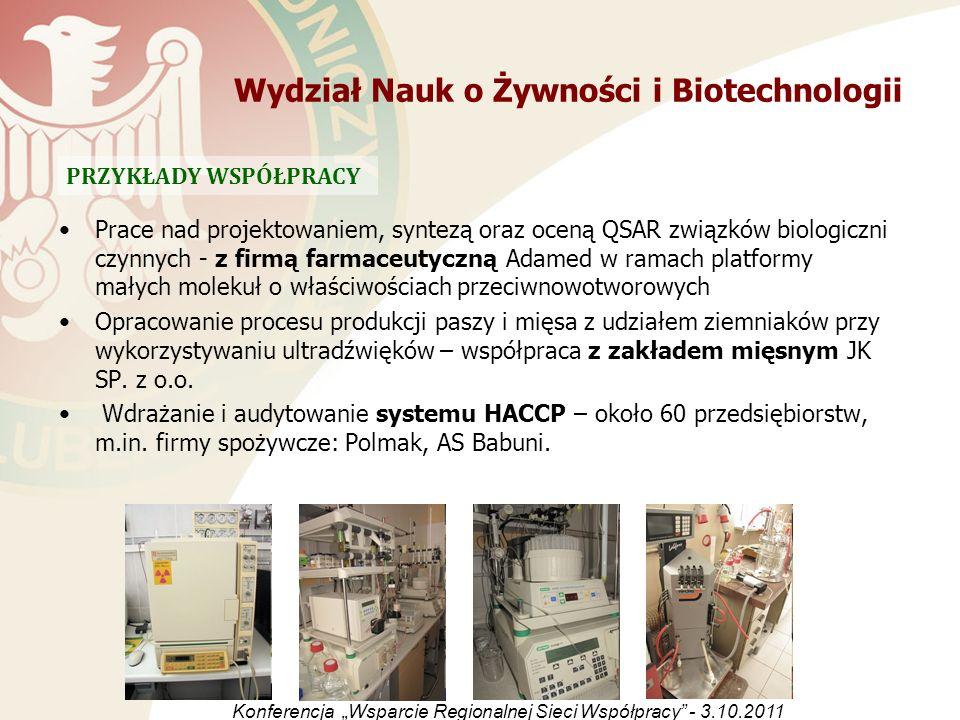 Prace nad projektowaniem, syntezą oraz oceną QSAR związków biologiczni czynnych - z firmą farmaceutyczną Adamed w ramach platformy małych molekuł o wł