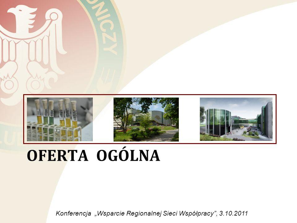 OFERTA OGÓLNA Konferencja Wsparcie Regionalnej Sieci Współpracy, 3.10.2011