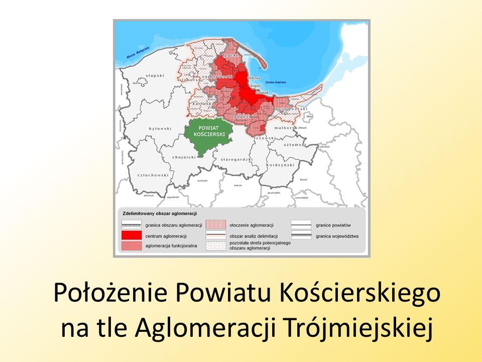 Położenie Powiatu Kościerskiego na tle Aglomeracji Trójmiejskiej