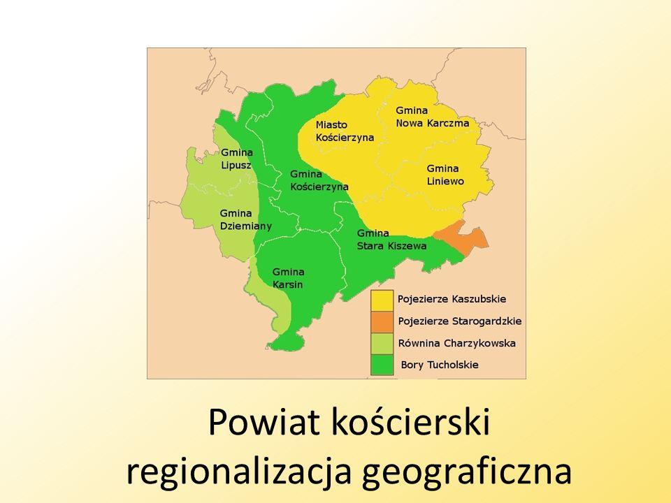 Powiat kościerski regionalizacja geograficzna