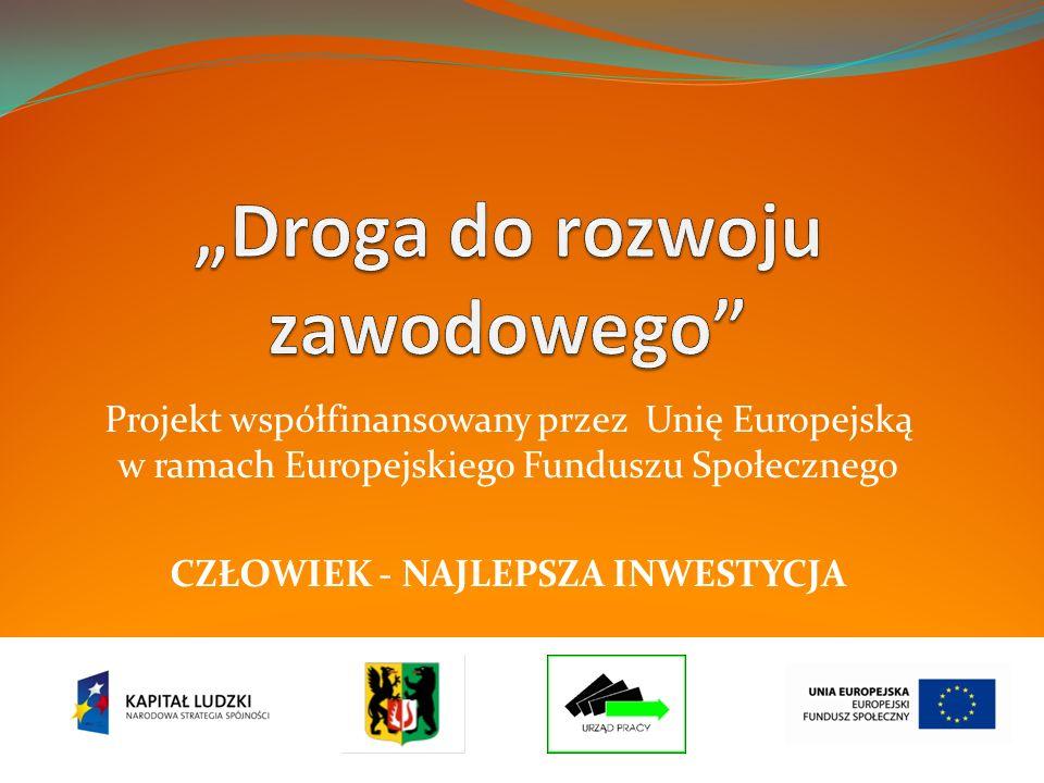 Projekt współfinansowany przez Unię Europejską w ramach Europejskiego Funduszu Społecznego CZŁOWIEK - NAJLEPSZA INWESTYCJA