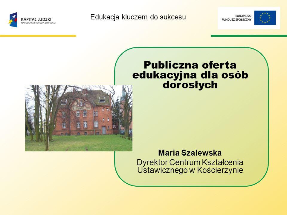 EDUKACJA KLUCZEM DO SUKCESU Projekt współfinansowany z budżetu Europejskiego Funduszu Społecznego w ramach Programu Operacyjnego Kapitał Ludzki.