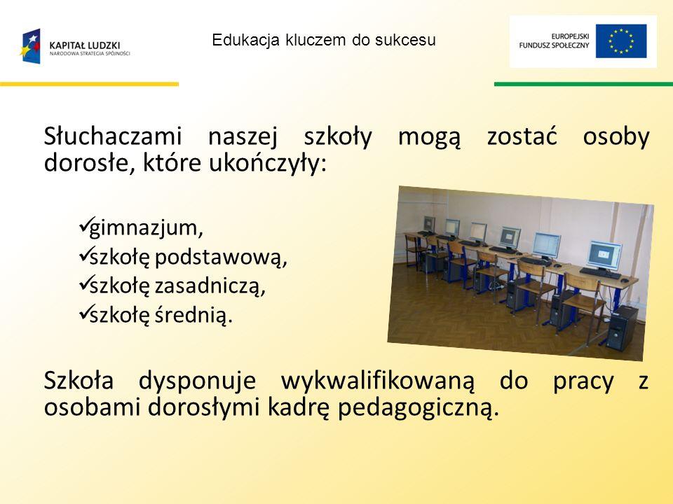 Centrum Kształcenia Ustawicznego jest placówką publiczną, która specjalizuje się w kształceniu osób dorosłych. Szkoła umożliwia kształcenie w formach