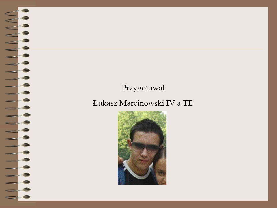 Przygotował Łukasz Marcinowski IV a TE