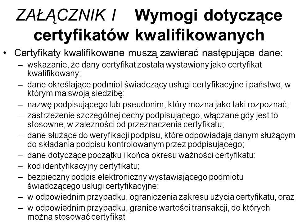 Podpis elektroniczny i Ustawa o podpisie w Polsce Podpis elektroniczny jest stosowany w Polsce od kilkunastu lat.