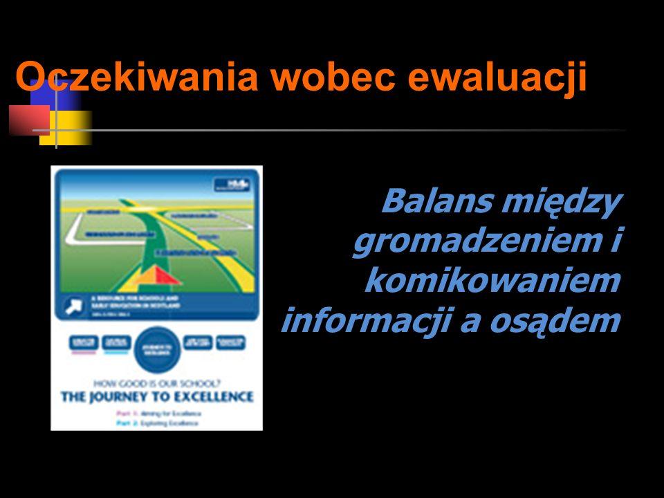 Oczekiwania wobec ewaluacji Balans między gromadzeniem i komikowaniem informacji a osądem
