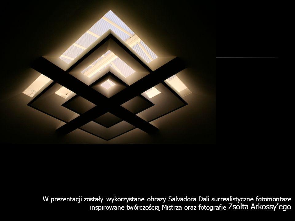 W prezentacji zostały wykorzystane obrazy Salvadora Dali surrealistyczne fotomontaże inspirowane twórczością Mistrza oraz fotografie Zsolta Arkossyego
