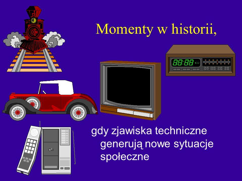 Momenty w historii, gdy zjawiska techniczne generują nowe sytuacje społeczne