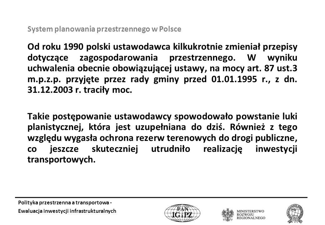 Od roku 1990 polski ustawodawca kilkukrotnie zmieniał przepisy dotyczące zagospodarowania przestrzennego.