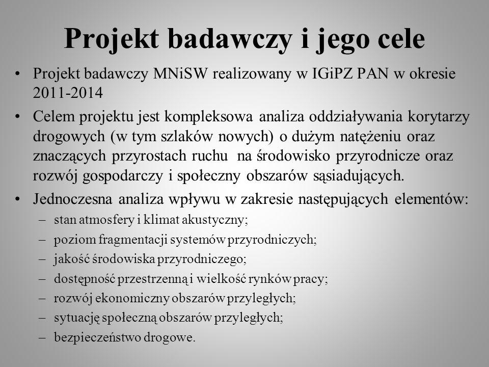 Projekt badawczy i jego cele Projekt badawczy MNiSW realizowany w IGiPZ PAN w okresie 2011-2014 Celem projektu jest kompleksowa analiza oddziaływania