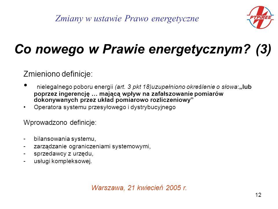 12 Zmieniono definicje: nielegalnego poboru energii (art.