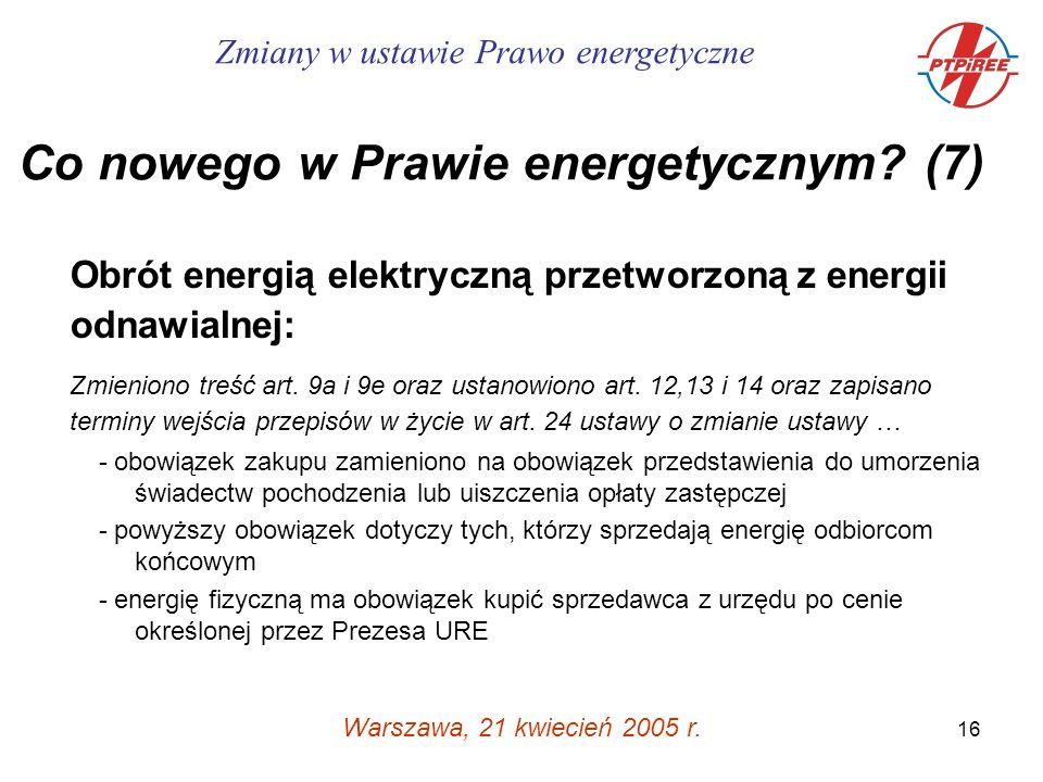 16 Warszawa, 21 kwiecień 2005 r.