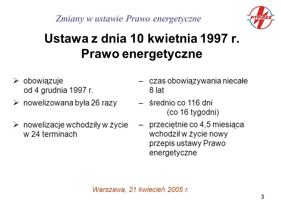 4 Wykaz zmian - stan w dniu 5 stycznia 2005 24-12-1997Dz.