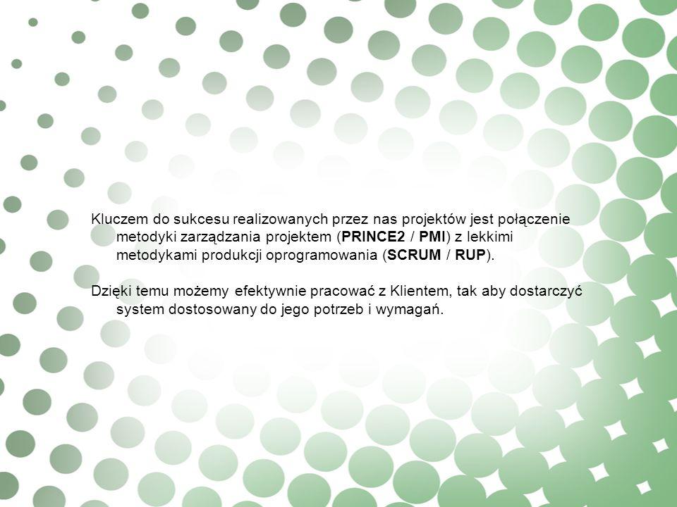 Kluczem do sukcesu realizowanych przez nas projektów jest połączenie metodyki zarządzania projektem (PRINCE2 / PMI) z lekkimi metodykami produkcji opr