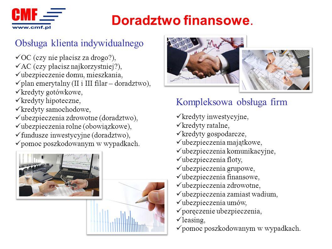 Doradztwo finansowe. Obsługa klienta indywidualnego OC (czy nie płacisz za drogo?), AC (czy płacisz najkorzystniej?), ubezpieczenie domu, mieszkania,
