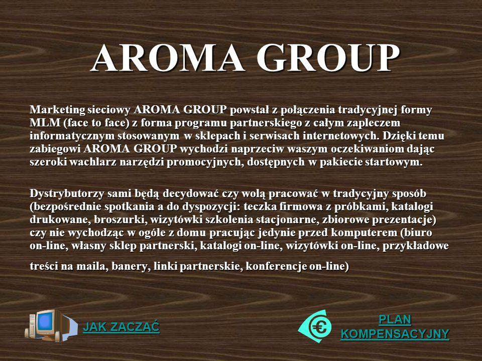 Marketing sieciowy AROMA GROUP powstał z połączenia tradycyjnej formy MLM (face to face) z forma programu partnerskiego z całym zapleczem informatyczn