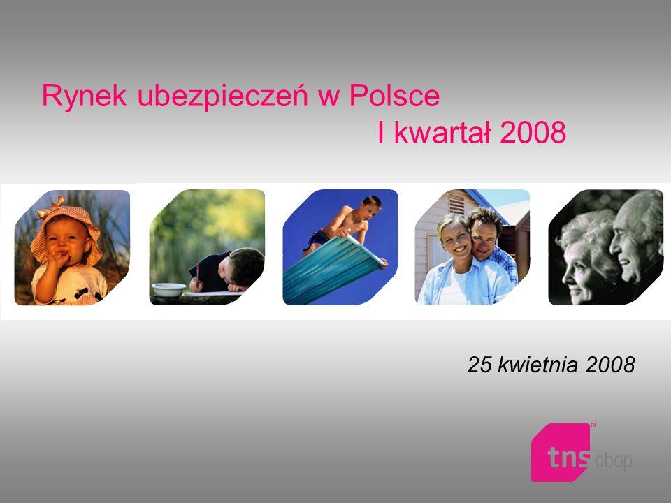 Rynek ubezpieczeń w Polsce I kwartał 2008 25 kwietnia 2008