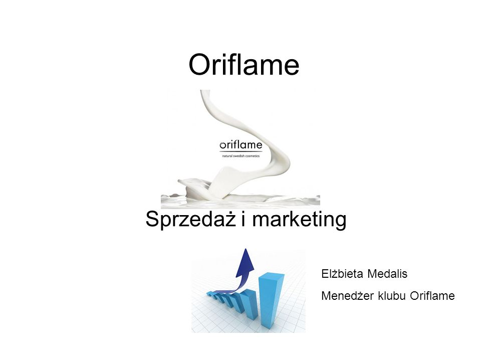 Oriflame Sprzedaż i marketing Elżbieta Medalis Menedżer klubu Oriflame