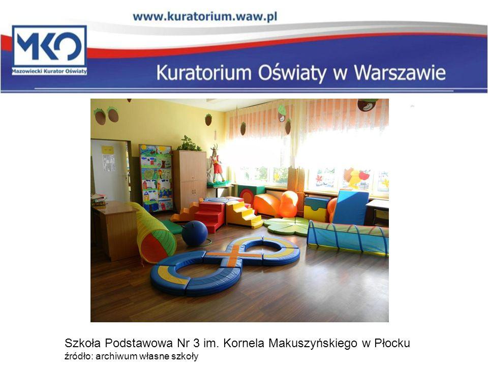 Szkoła Podstawowa Nr 3 im. Kornela Makuszyńskiego w Płocku źródło: archiwum własne szkoły