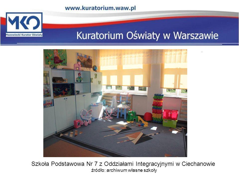 Szkoła Podstawowa Nr 7 z Oddziałami Integracyjnymi w Ciechanowie źródło: archiwum własne szkoły