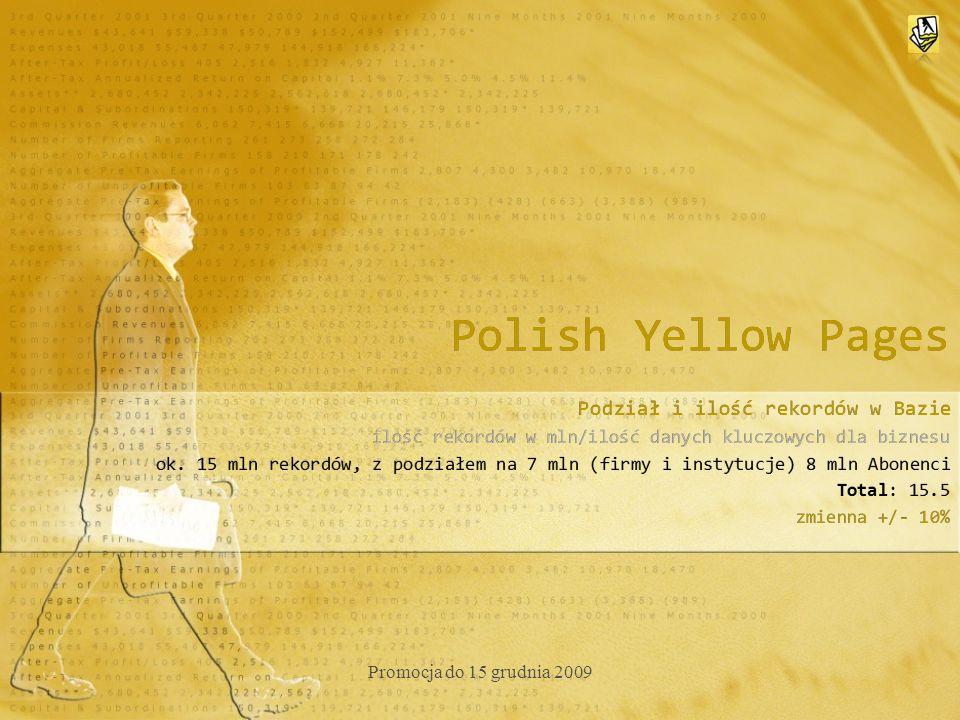 Polish Yellow Pages Promocja -50% do dnia 15 grudnia 2010 roku do godz.