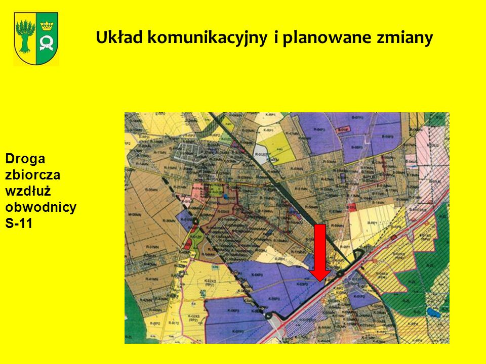 Układ komunikacyjny i planowane zmiany Droga zbiorcza wzdłuż obwodnicy S-11