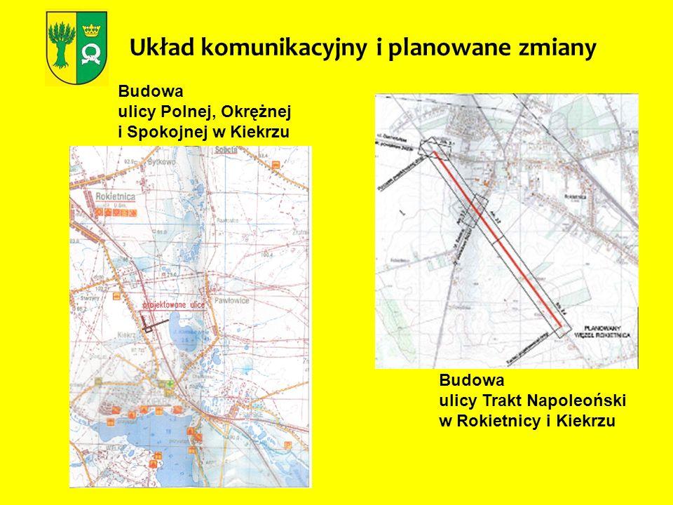 Układ komunikacyjny i planowane zmiany Budowa ulicy Trakt Napoleoński w Rokietnicy i Kiekrzu Budowa ulicy Polnej, Okrężnej i Spokojnej w Kiekrzu