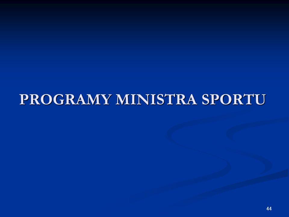 44 PROGRAMY MINISTRA SPORTU