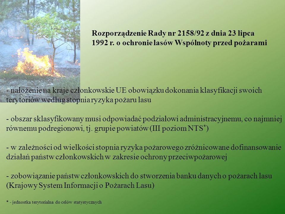 § 3.1. Ustala się następujące stopnie zagrożenia pożarowego lasów: 0.