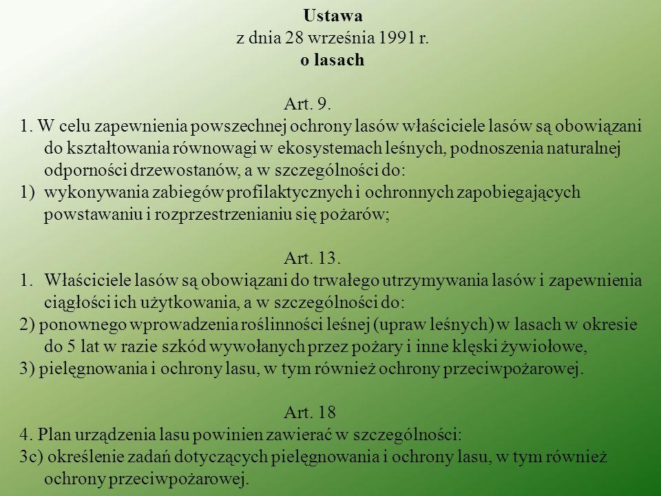Ustawa z dnia 28 września 1991 r.o lasach Art. 26 3.