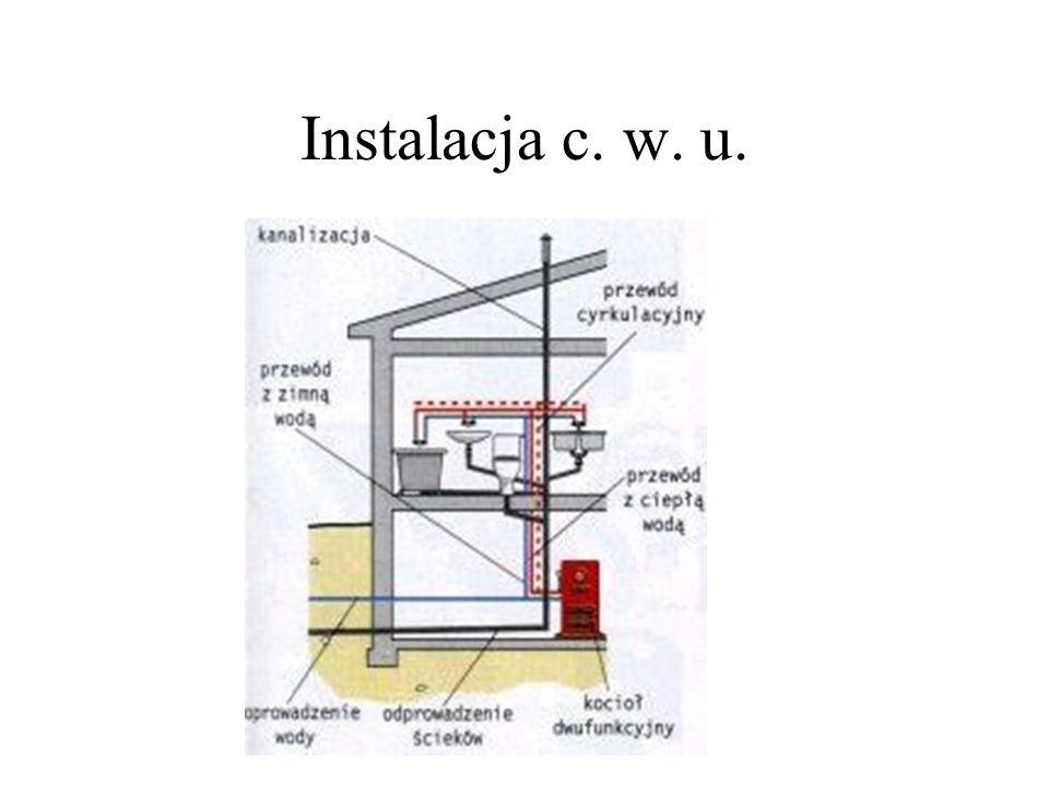 Instalacja c. w. u.