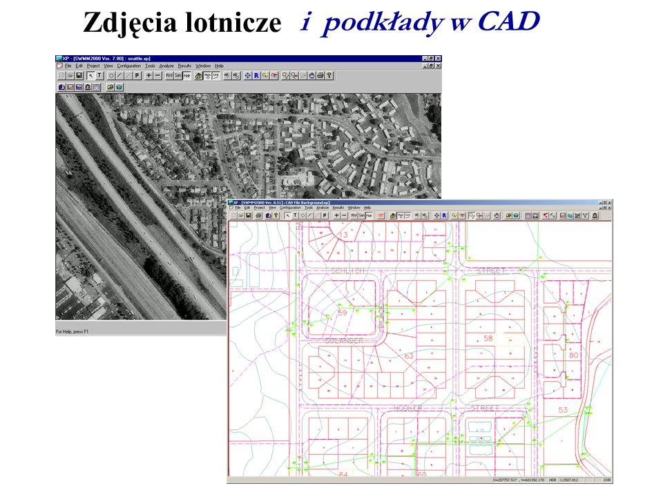 Zdjęcia lotnicze i podkłady w CAD