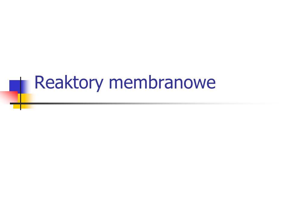 Reaktory membranowe