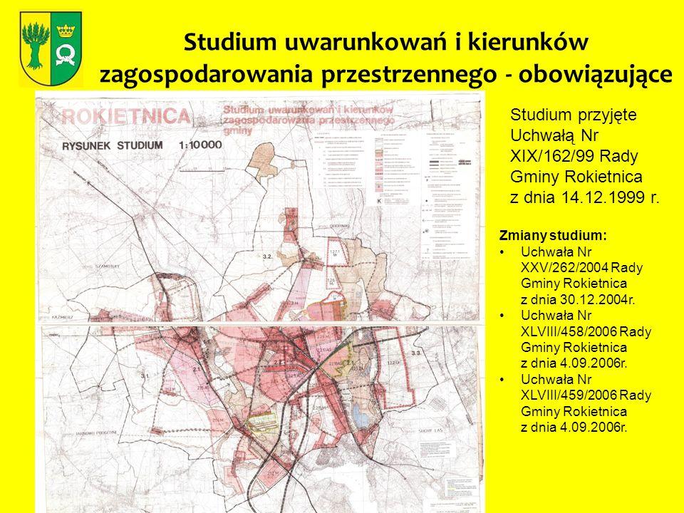 Studium uwarunkowań i kierunków zagospodarowania przestrzennego - obowiązujące Studium przyjęte Uchwałą Nr XIX/162/99 Rady Gminy Rokietnica z dnia 14.
