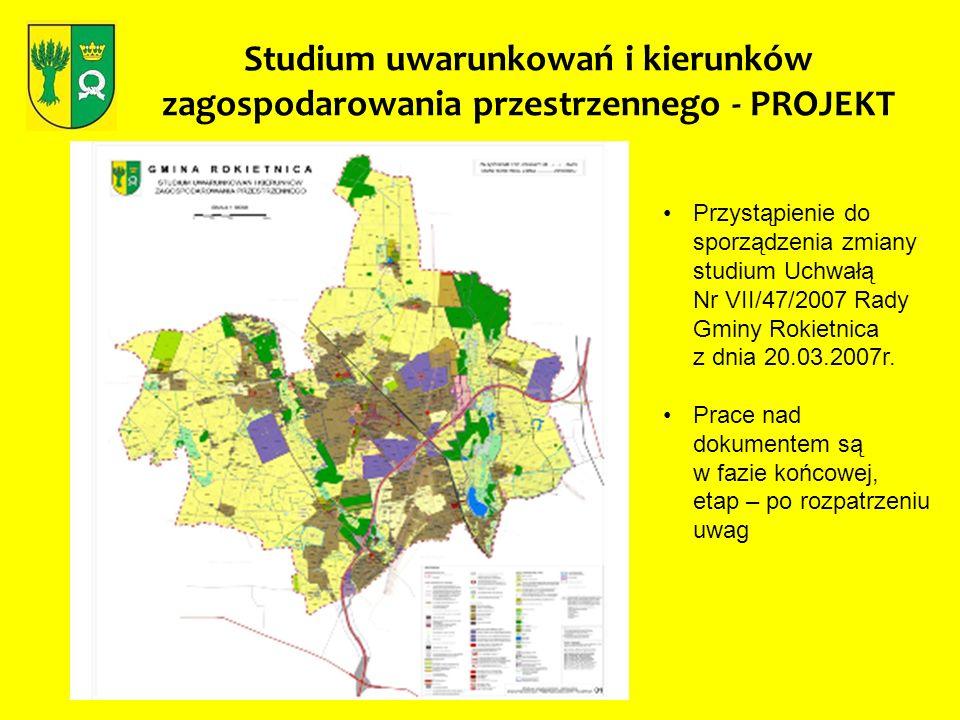 Studium uwarunkowań i kierunków zagospodarowania przestrzennego - PROJEKT Przystąpienie do sporządzenia zmiany studium Uchwałą Nr VII/47/2007 Rady Gmi