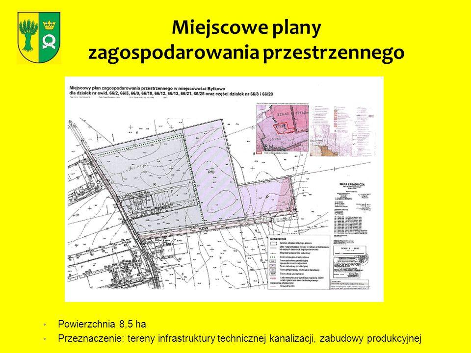 Powierzchnia 8,5 ha Przeznaczenie: tereny infrastruktury technicznej kanalizacji, zabudowy produkcyjnej