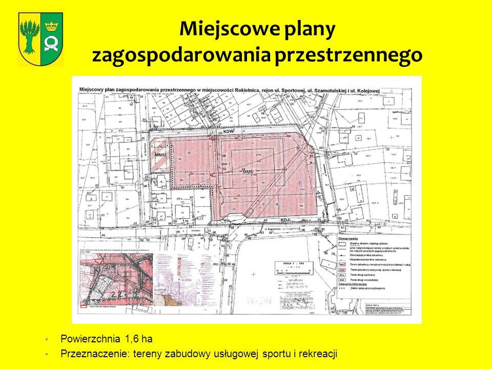 Miejscowe plany zagospodarowania przestrzennego Powierzchnia 3 ha Przeznaczenie: zabudowa mieszkaniowa i tereny zieleni parkowej