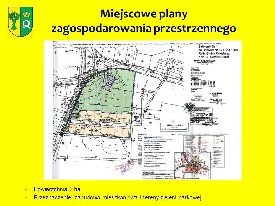 Miejscowe plany zagospodarowania przestrzennego Powierzchnia 12 ha Przeznaczenie: tereny produkcyjne