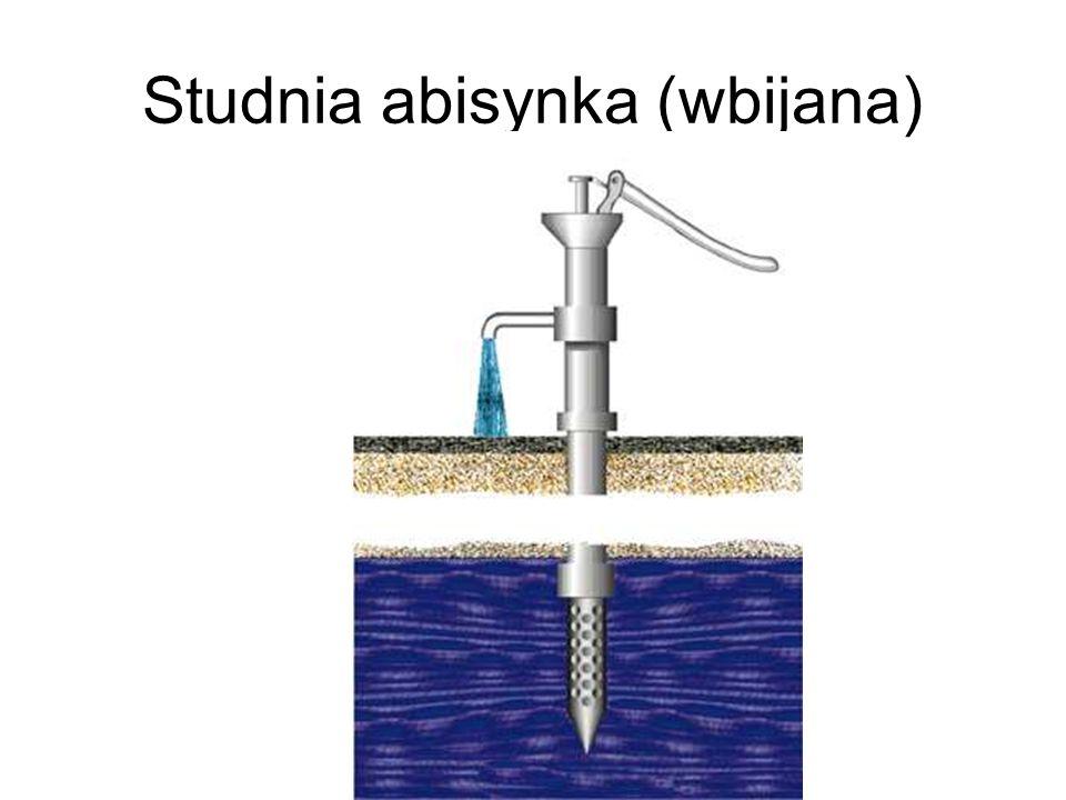 Wymagana wydajność ujęcia wody Q u - wymagana wydajność ujęcia wody, na którą projektuje się urządzenia służące do czerpania wody, m 3 /s; n - liczba godzin pracy ujęcia, a zasadniczo pompowni, w ciągu doby, h/d; Q d max - maksymalne dobowe zapotrzebowanie na wodę uwzględniające jej wszystkich odbiorców, m 3 /d; - współczynnik uwzględniający potrzeby zakładu wodociągowego; a 0,05; β - współczynnik uwzględniający procesy starzenia się konstrukcji studziennych i wynikająca stąd konieczność prowadzenia okresowych remontów lub renowacji; orientacyjnie β = 1,0 ÷ 1,35 (im mniejsza liczba obiektów ujmujących wodę, tym większa wartość współczynnika β); Q r - dodatkowo ujmowana woda przeznaczona na uzupełnianie zapasów (np.