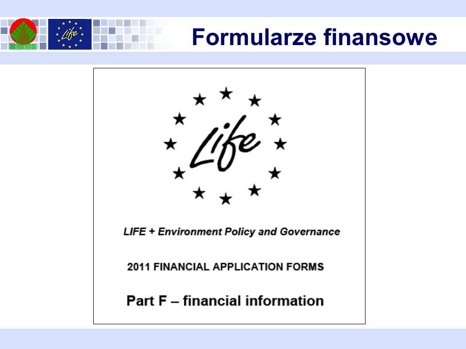 Formularze finansowe