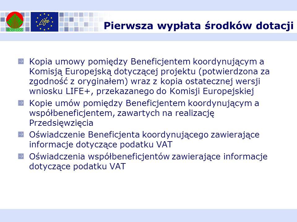 Kopia umowy pomiędzy Beneficjentem koordynującym a Komisją Europejską dotyczącej projektu (potwierdzona za zgodność z oryginałem) wraz z kopia ostatec