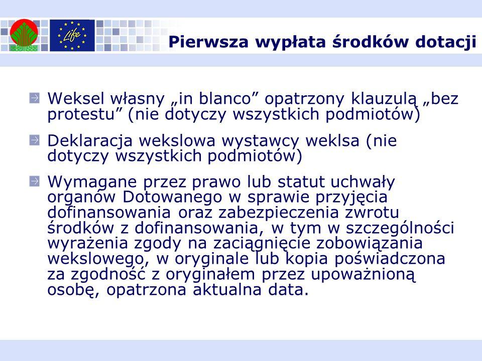 Weksel własny in blanco opatrzony klauzulą bez protestu (nie dotyczy wszystkich podmiotów) Deklaracja wekslowa wystawcy weklsa (nie dotyczy wszystkich
