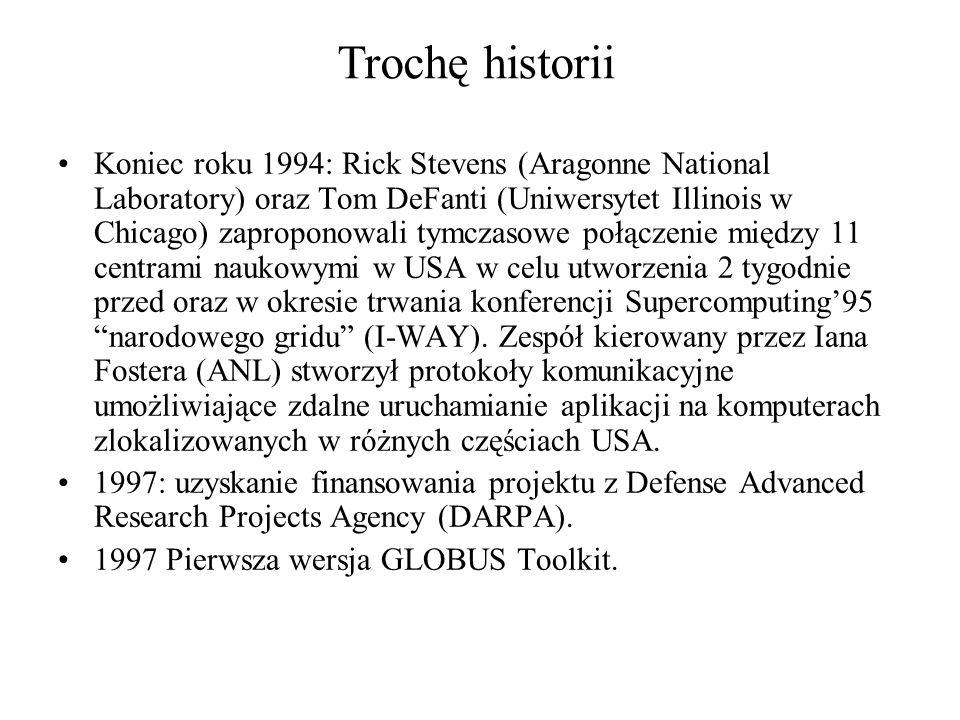 Koniec roku 1994: Rick Stevens (Aragonne National Laboratory) oraz Tom DeFanti (Uniwersytet Illinois w Chicago) zaproponowali tymczasowe połączenie między 11 centrami naukowymi w USA w celu utworzenia 2 tygodnie przed oraz w okresie trwania konferencji Supercomputing95 narodowego gridu (I-WAY).