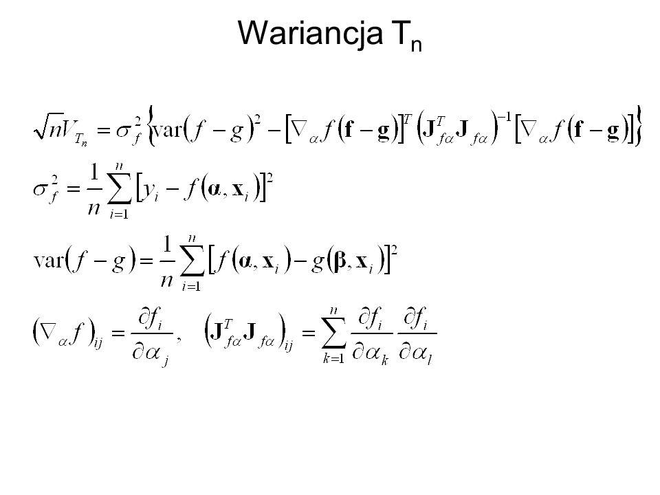 Wariancja T n