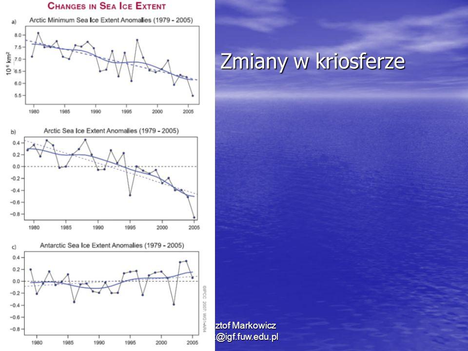 1/11/2014 Krzysztof Markowicz kmark@igf.fuw.edu.pl Zmiany w kriosferze