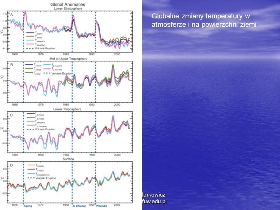 1/11/2014 Krzysztof Markowicz kmark@igf.fuw.edu.pl Globalne zmiany temperatury w atmosferze i na powierzchni ziemi