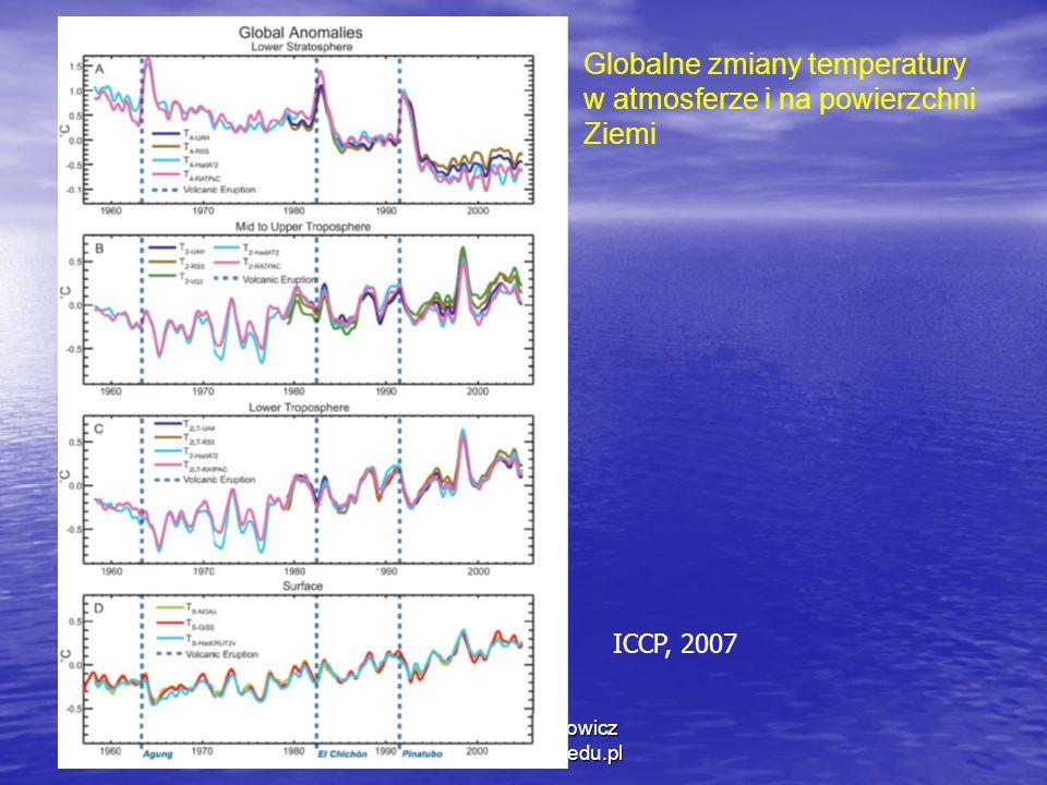 1/11/2014 Krzysztof Markowicz kmark@igf.fuw.edu.pl Globalne zmiany temperatury w atmosferze i na powierzchni Ziemi ICCP, 2007