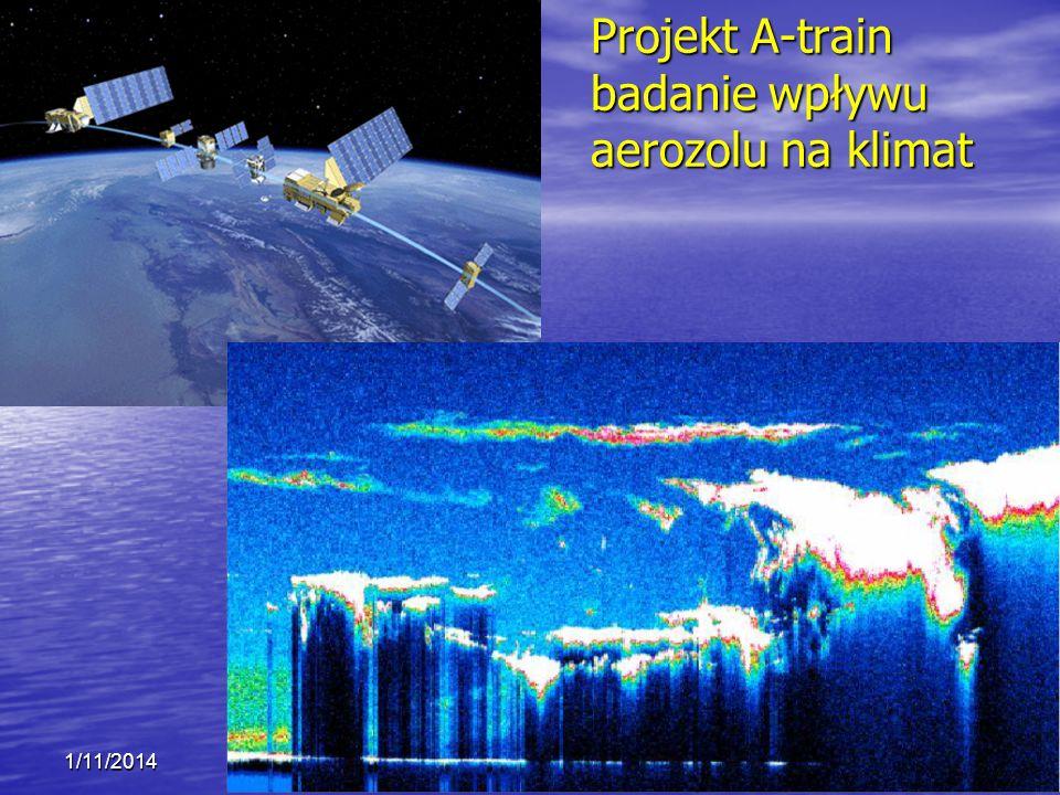 Projekt A-train badanie wpływu aerozolu na klimat 1/11/2014 Krzysztof Markowicz kmark@igf.fuw.edu.pl