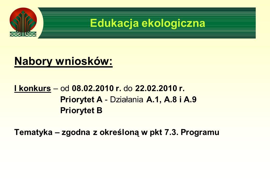 Nabory wniosków: I konkurs – od 08.02.2010 r. do 22.02.2010 r.